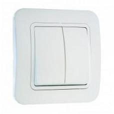MAKEL LILIA 02 белый выключатель 2-клавишный 70003