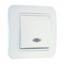 MAKEL LILIA 05 белый выключ.1-клав.подсвет. 70021