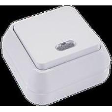 MAKEL 64 ОП белый выключ.1-клав.с подсвет. 45121
