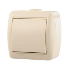 MAKEL 71 ОП крем выключатель 1-клавишный 45201