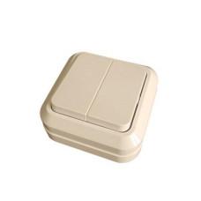 MAKEL 72 ОП крем выключатель 2-клавишный 45203