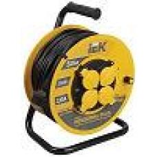 Удлинитель на кат. 4х50м УК50 с защитными крышками, термозащита  3х1.5 IP44 IEK