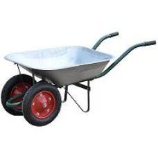Тачка садовая оцинк 80л 2 колеса