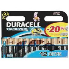 Элемент питания  Duracell LR06 TURBO BP12 2АА