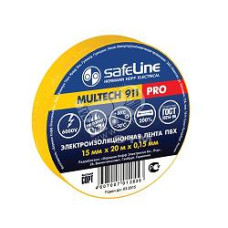 Изолента SafeLine ПВХ 19х25 желтая