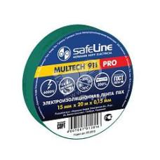 Изолента SafeLine ПВХ 19х25 зеленая