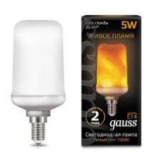 Лампа Gauss LED T65 5w/1500? E27 Real Flame