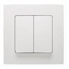 Выключатель проходной 2-кл Lillium бел./бел. MAKEL