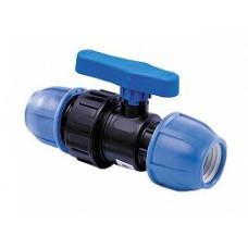 Кран шаровой компрессионный PN16 d32 для ПЭ труб