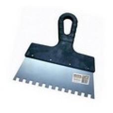 Шпатель зубчатый прямой KORVUS 150 мм