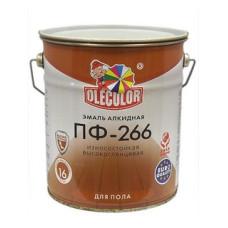 Эмаль ПФ-266 Олеколор красно-коричневая 20 кг