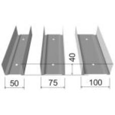 Профиль направляющий СТАНДАРТ 75*40 3м 0,6мм