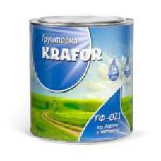 Грунт ГФ-021 KRAFOR серый 2.7 кг
