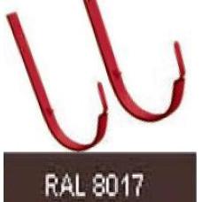 Крюк длинный 125 мм RAL 8017