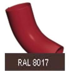 Колено стока, 90мм RAL 8017