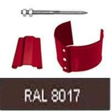 Кронштейн трубы на кирпич, 90мм RAL 8017
