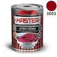 Эмаль для металлопрофиля и сендвич-панелей RAL 3003 рубиново-красный (0.9 кг) FARBITEX ПРОФИ MASTER