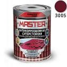 Эмаль для металлопрофиля и сендвич-панелей RAL 3005 красное вино (0.9 кг) FARBITEX ПРОФИ MASTER