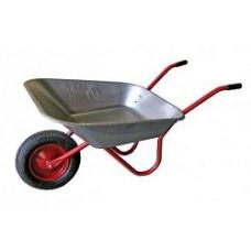 Тачка садовая оцинк 80л 1 колесо