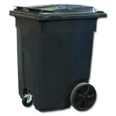 Бак пласт. для мусора с крышкой на колесах 110л