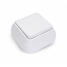 MAKEL 61 ОП белый выключатель 1-клавишный 45101