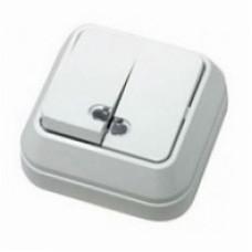MAKEL 65 ОП белый выключ.2-клав.с подсвет. 45123