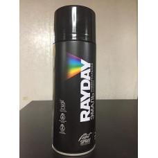 Краска аэрозоль акрил черная матовая 520мл RAYDAY