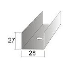 ПрофильПотолочныйНаправляющийСТАНДАРТ28*27 3м0,6мм