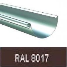 Желоб полукруглый 125мм, 3м RAL 8017
