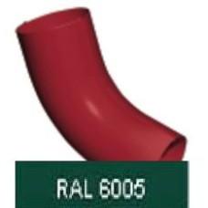 Колено стока, 90мм RAL 6005