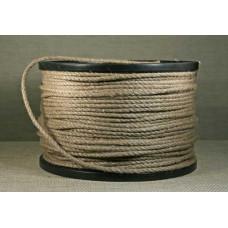 Веревка джутовая 3-прядная 6мм